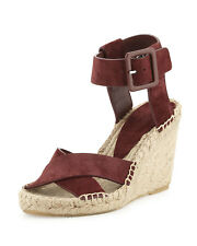 53a23fb2893 New  295 Vince Stefania Suede Espadrille Wedge Sandal 9