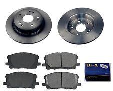 Rear Ceramic Brake Pad Set & Rotor Kit for 2005-2007 Honda Accord 4W DISC