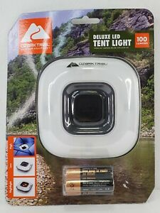 Ozark Trail 100 Lumen Deluxe LED Tent Light Camping for Outdoor Hiking Equipment