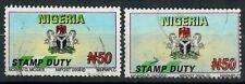 2006 - Nigeria - Stamp Duty N50 used - both variants