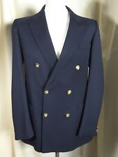 Gieves & Hawkes Navy Gold Button The City Livery Club Blazer C40""