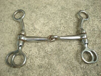 "Vintage Horse Bridle Bit JAPAN Chrome 6"" Long"