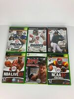Playstation, Xbox, Xbox 360 Sports Game Lot UFC, Madden, NCAA, MLB, NBA Live