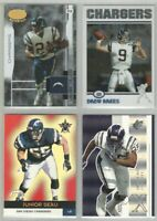 San Diego Chargers 375 card 2000-2005 base card lot-all different