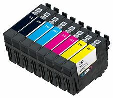 8pk Remanufactured Epson 252 Ink Cartridge for Workforce Wf-7610 Wf-7620