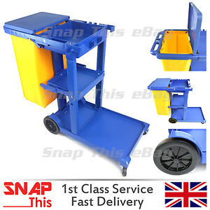 CLEANING JANITORIAL LAUNDRY TROLLEY HOTEL/SCHOOL CLEANER HOUSEKEEPING JANITOR