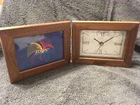 ZOSYN QUARTZ SHELF DESK CLOCK AND PICTURE FRAME 4.5 inch X 3 inch