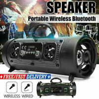 Portable Wireless Bluetooth Speaker Subwoofer Super Bass Stereo Sound Barrel TF