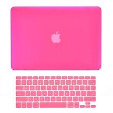 "Unik Case-2 in 1 Matte Hard Case & Silicone Skin for Macbook Pro 13"" -Hot Pink"