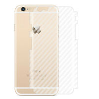 3D Ultra Thin Shockproof Carbon Fiber Rear Sticker Protector for iPhone X 8 Plus