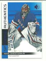 2019/20 Upper Deck SP Igor Shesterkin New York Rangers Rookie Authentics Blue