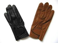 MEN'S HORSE RIDING ALL WEATHER LEATHER GENTS EQUESTRIAN GLOVES