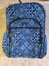 VERA BRADLEY Campus Tech Backpack College Work Laptop CUBAN TILES Blue