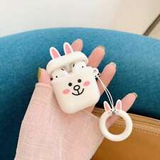 2019 3D Cartoon Cony Rabbit Headset Airpods Charge Case Cover For Airpod + Ring