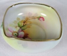 Beautiful Vintage Hand Painted Nippon Bowl, Japan, Candy, Flowers, Morimura