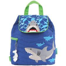 Stephen Joseph Boys Quilted Shark Backpack - Cute Toddler Preschool Bags