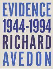 EVIDENCE 1844-1994 RICHARD AVEDON.        PHOTOGRAPHY