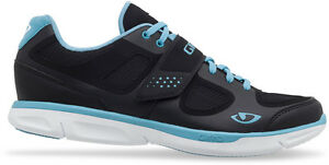 Giro Whynd Women's Dual Sport/Street Cycling Shoes Black/Milky Blue/White Size 5