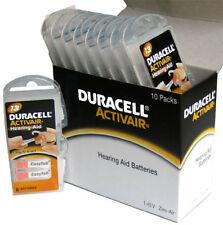 64 x Duracell Activair Hearing Aid Batteries Size 13