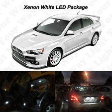 6 x Xenon White SMD LED Interior Bulbs + License Plate Lights For Lancer EVO X