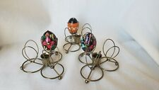 3 Pysanky Easter Egg Display Stands Candle Holder (eggs not included)