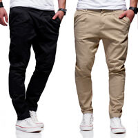 Jack & Jones Jeans Chinohose ROBERT Anti-Fit Hose Chino Beige/Schwarz NEU