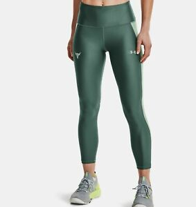 Under Armour Women's Project Rock 7/8 Leggings Size Small, Toddy Green 1361072