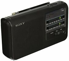 NEW Sony ICF38 Portable AM FM Radio Black FREE SHIPPING