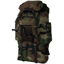 Vidaxl Zaino Stile Militare XXL 100 L Nero