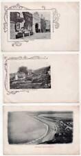PORTLAND - Rufus Castle - Portland Prison - Chesil Beach -Three Postcards Dorset
