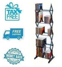 New 5 Tier Media Rack 130 CD Holder Display DVD Organizer Game Storage Shelve