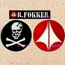 Lot of 3 Macross Patches Roy Fokker Skull Squadron Suit Robotech Rick Hunter