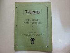 1968 Triumph Replacement Parts Catalogue No. 9 Tiger 90 Tiger 100 TRIUMPH 77 OEM