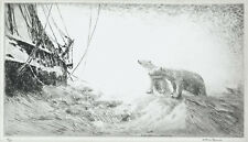 A wonderful Ice Bound etching by Arthur Briscoe, hand signed in ink