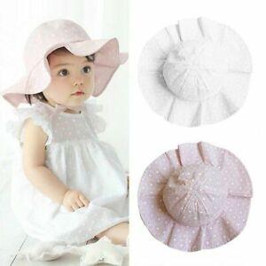 Cute Toddler Baby Girl Flower Princess Bucket Sun Hat Summer Beach Bonnet Cap
