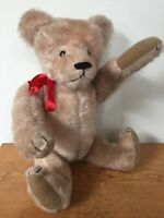 "Vintage Linda Spiegel Bearly There 17"" Blonde Jointed Stuffed Plush Teddy Bear"