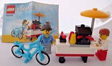 LEGO 40078 Lego Creator HOT DOG CART 2 minifigs manual