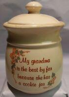 1989 House of Lloyd Ceramic Cookie Jar, My Grandma Is The Best By Far