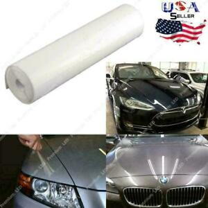 "12"" x 49"" Clear Car Bumper Hood Paint Protection Film Vinyl Decal Universal Fit"