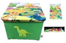 "Dinosaur Toy Box NEW ,12 Dinosaurs, Dino Bag, Large Size 15x15x12 Inch, 12"" Tall"