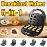 5-in-1 Breakfast Maker Sandwich Waffle Donut BBQ Grilling Kitchen Baking Machine