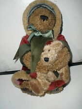 """Boyds Bears """"Poppa Bear and Noelle"""" Christmas ~ Tagged ~ Retired ~ #917302"""