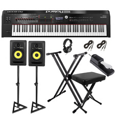 Roland RD-2000 Digital Stage Piano   KRK ROKIT 5 RP5G3 Studio Monitor Pair   ...