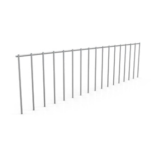 DIG DEFENCE Animal Barrier 32 in. x 8 in. Decorative Welded Galvanized Steel