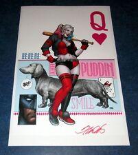 HARLEY QUINN #14 signed FRANK CHO art print litho poster 11x17 JOKER BAT PUDDIN