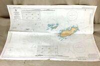 1982 Vintage Marittimo Mappa Il Canale Isole Alderney Casquets Admiralty Grafico