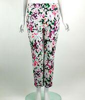 Joseph Ribkoff Sloane Cropped Pants Geometric & Floral Print Multi Size 10 New