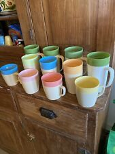 Vintage Raffiaware Tumblers Thermo-Temp Cups Ribbed Lot