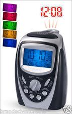 Precision PREC0094 Radio Controlled Projection Alarm Clock 7 Colours