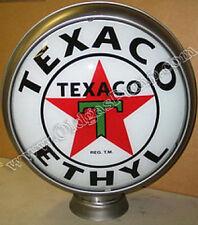"""TEXACO ETHYL GASOLINE OIL 15"""" GAS PUMP GLOBE FREE S&H"""